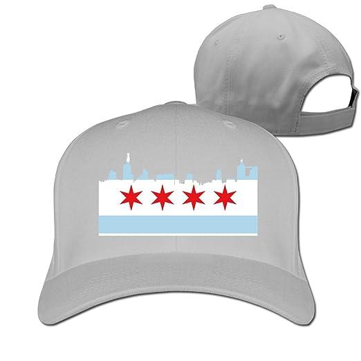 096bce6e044 Amazon.com  Chicago Flag City Skyline Peaked Hat Flexfit Hat One ...