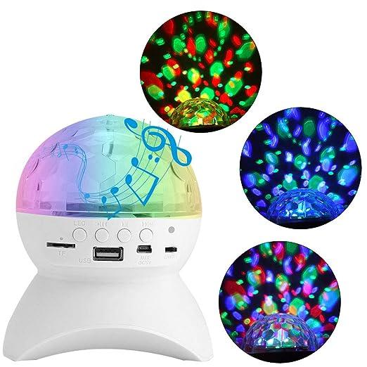 MCLseller Altavoz con luz Bluetooth, Luces de proyector LED ...