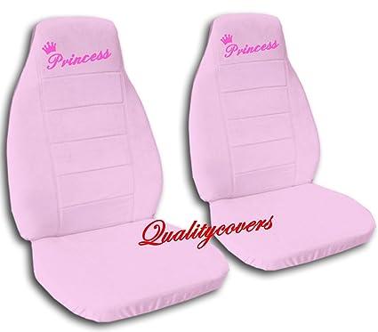 2 Sweet Pink QuotPrincessquot Car Seat Covers