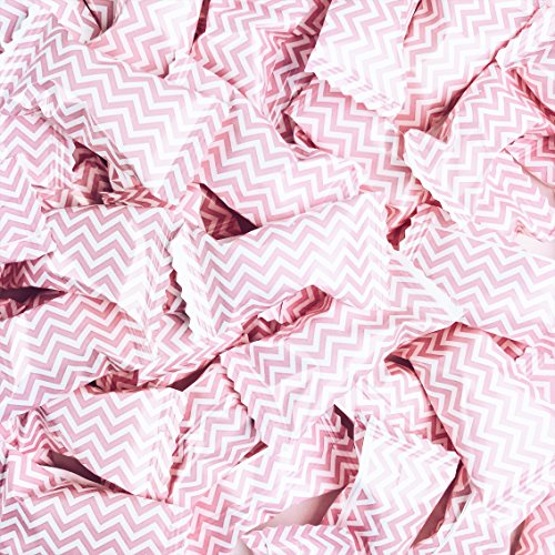 Chevron Pink Buttermints - 13 oz. Bag - Approximately 100 Individually Wrapped Mints -