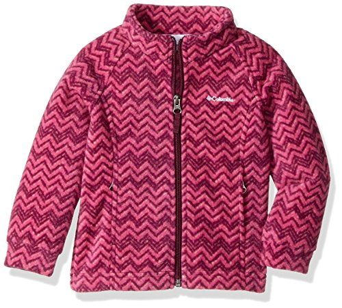 (Columbia Girls' Big Benton Springs Ii Printed Fleece Jacket, Dark Raspberry Tweed, X-Large)