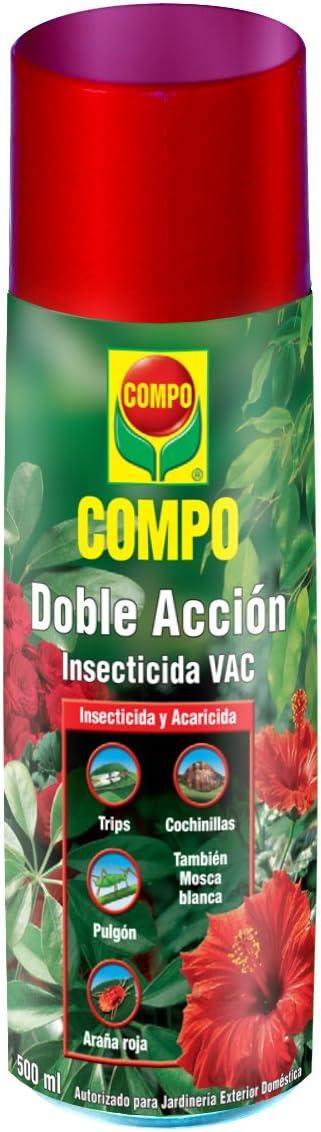 Compo Aerosol Doble Acción Insecticida y acaricida, para jardinería Exterior doméstica, 500 ml