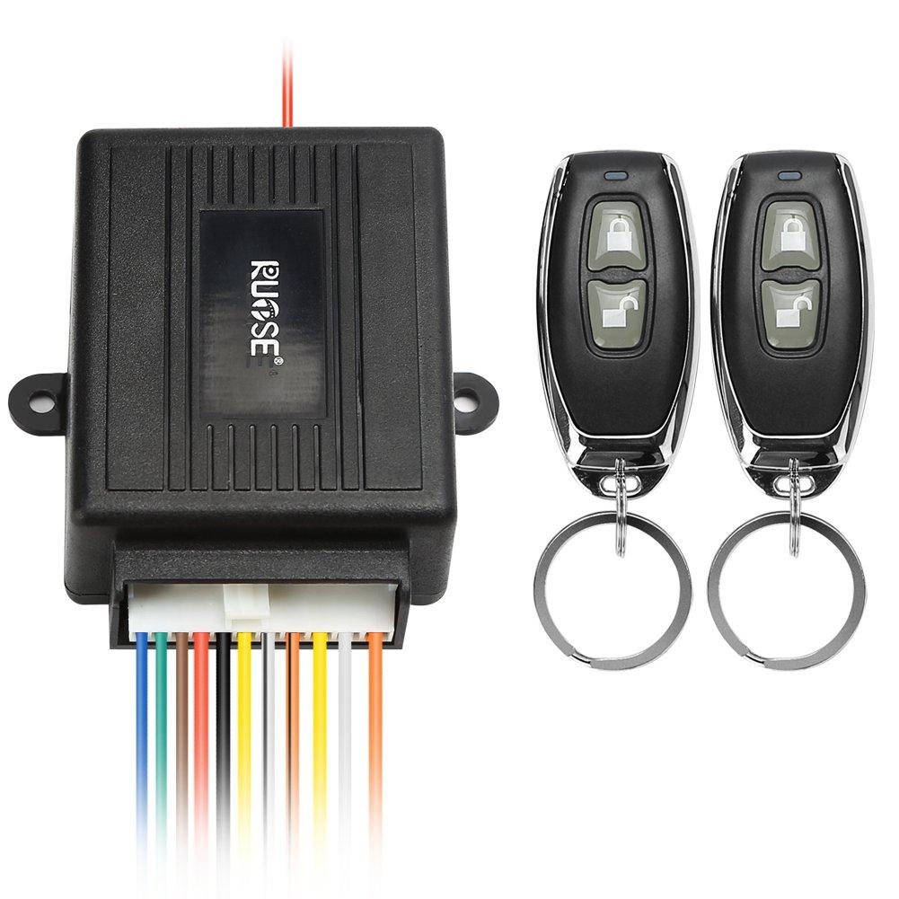 Rupse Kit de Systè me de Verrouillage Central Universel avec Té lé commandes Alarme Pour Auto Voiture MA-CARL