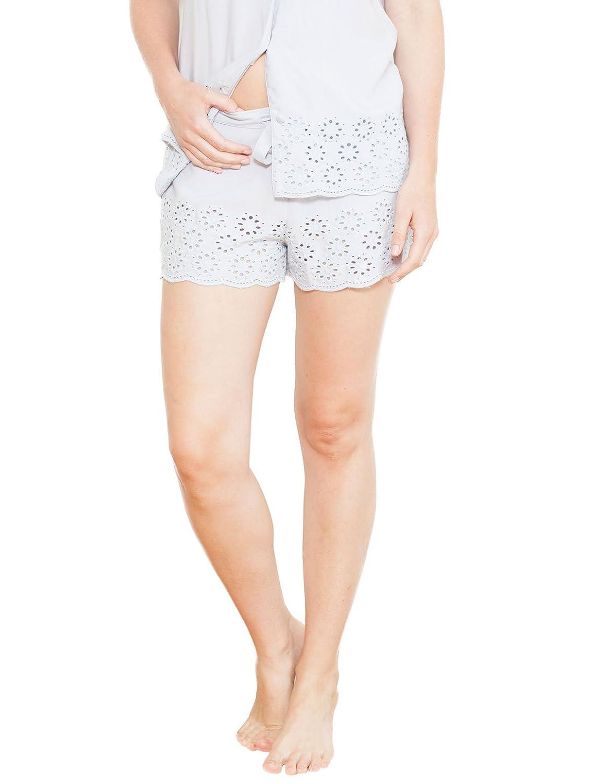 Cyberjammies 3690 Women's Beetrix Grey Solid Colour Pajama Pyjama Short