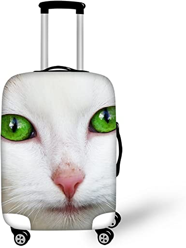 3D Cute Cat Print Luggage Protector Travel Luggage Cover Trolley Case Protective Cover Fits 18-32 Inch