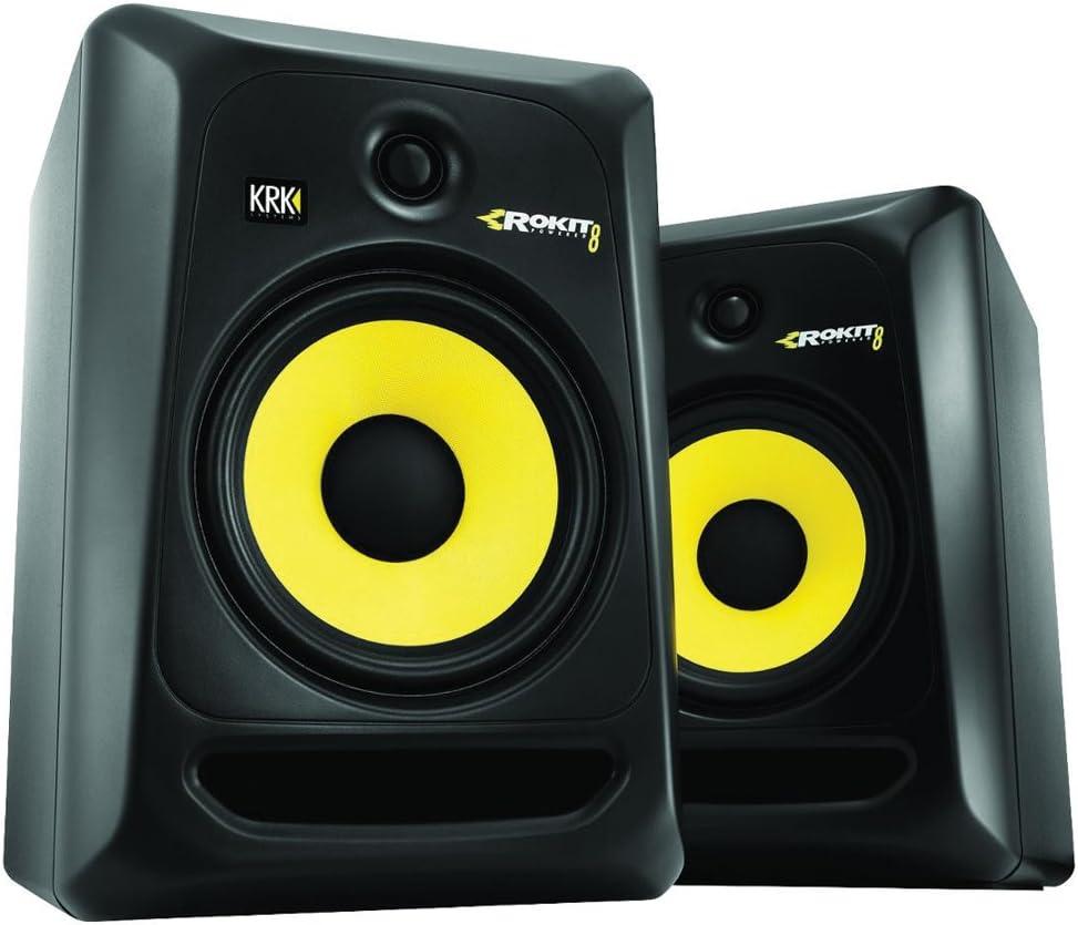 KRK RP8 G4 8inch Powered Studio Monitor Speakers – Pair