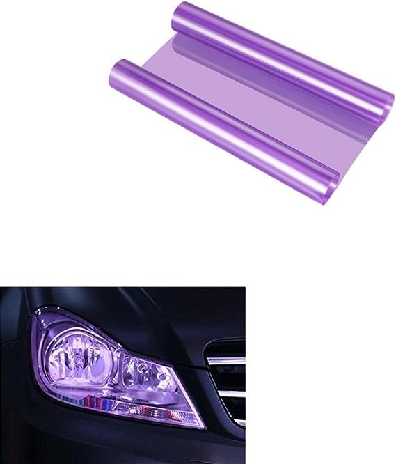 Aby 200cm X 30cm Scheinwerfer Folie Tönungsfolie Aufkleber Für Auto Scheinwerfer Rückleuchten Blinker Nebelscheinwerfer Lila Auto