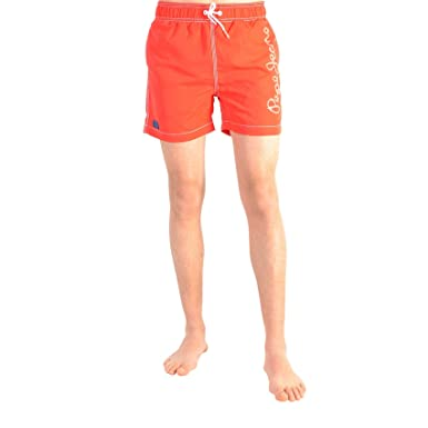 5bdcc12d1d0 Pepe Jeans Maillot De Bain Enfants Guido Pop Red  Amazon.co.uk  Clothing
