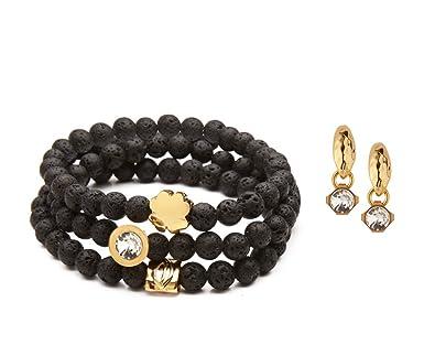 330988f51 Amazon.com: SEA Smadar Beautifully Designed Black Lava Stones ...