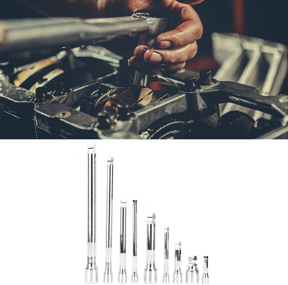 Cocoarm Lot de 9 rallonges en acier CR-V 1//4 3//8 1//2