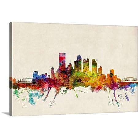Pittsburgh Skyline Canvas Wall Art Print, 48 x32 x1.25