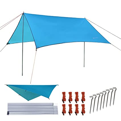 NATUREFUN Multifuncional 3x3m Impermeable Ante Lluvia para Hamaca Tienda de  Camping Lona para Acampar al Aire 637aaf780d9