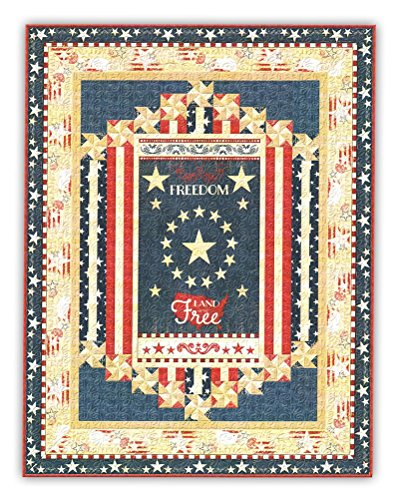 Quilt Kit   Lap Size    Colors Of Freedom  Patriotic Fabric Collection  Measures 65  X 89