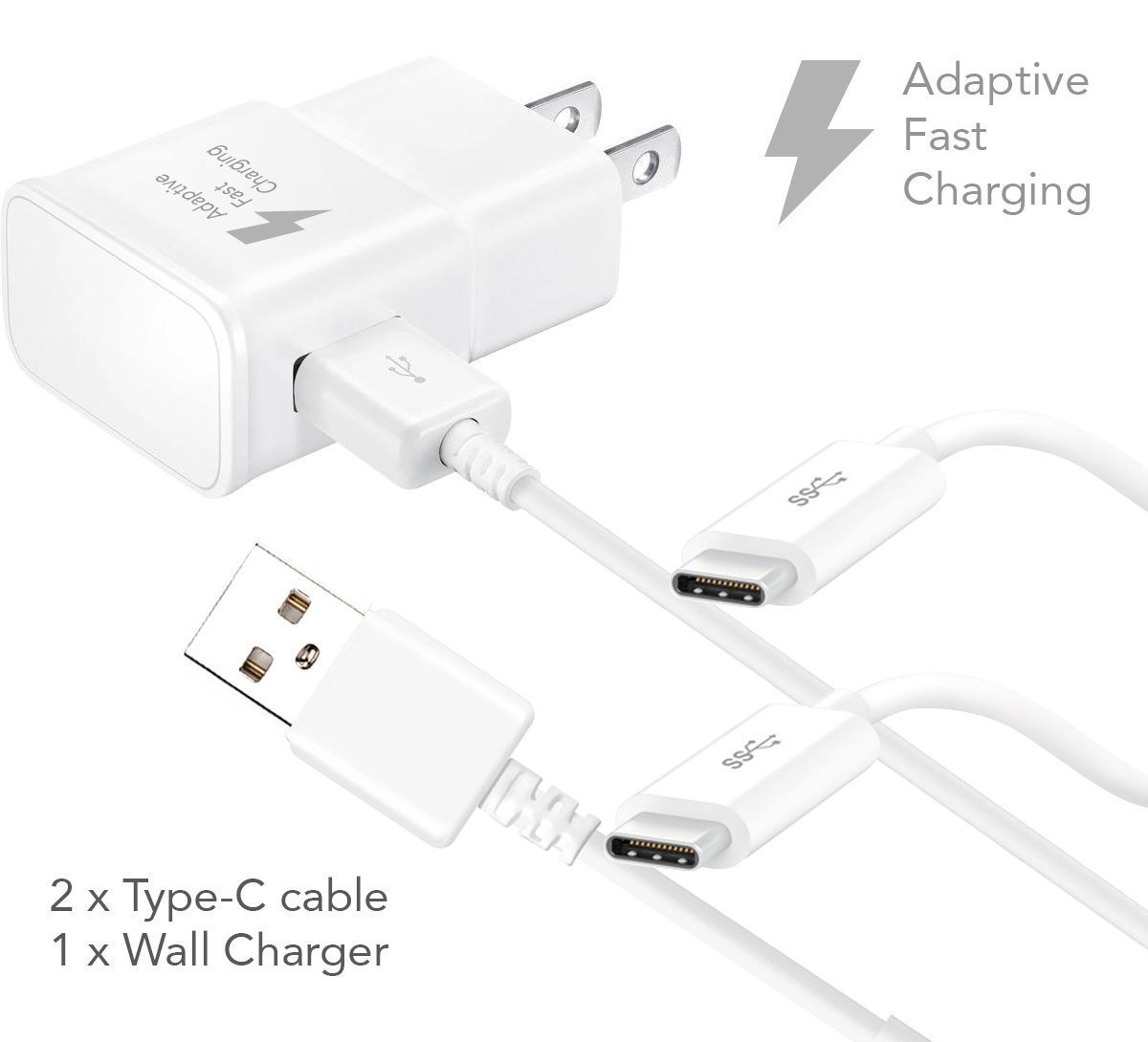 motorola moto z play charger fast type c usb 2 0 cable kit by ixir fast wall charger type c. Black Bedroom Furniture Sets. Home Design Ideas