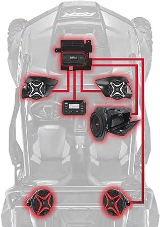 Amazon Com Polaris Rzr Xp 1000 Complete Ssv Works 5 Speaker Plug And Play System Automotive