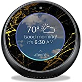 MightySkins Skin for Amazon Echo Spot - Black Gold Marble | Protective, Durable, and Unique Vinyl Decal wrap Cover | Easy to Apply, Remove, and Change Styles | Made in The USA
