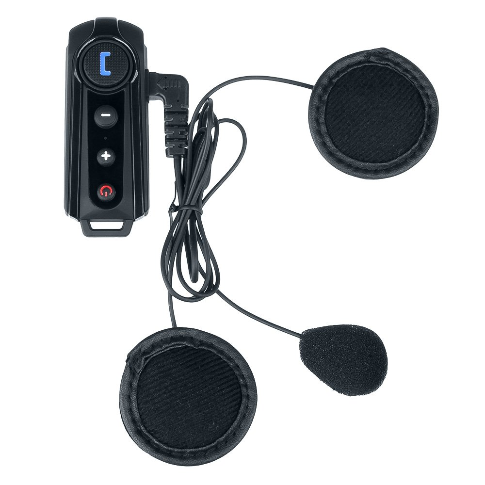 Fodsports Bluetooth Headset Communication,BT-S1 Motorcycle Helmet Intercom System for Motorbike and Skiing (Water-Proof,Pairing 2 Riders)
