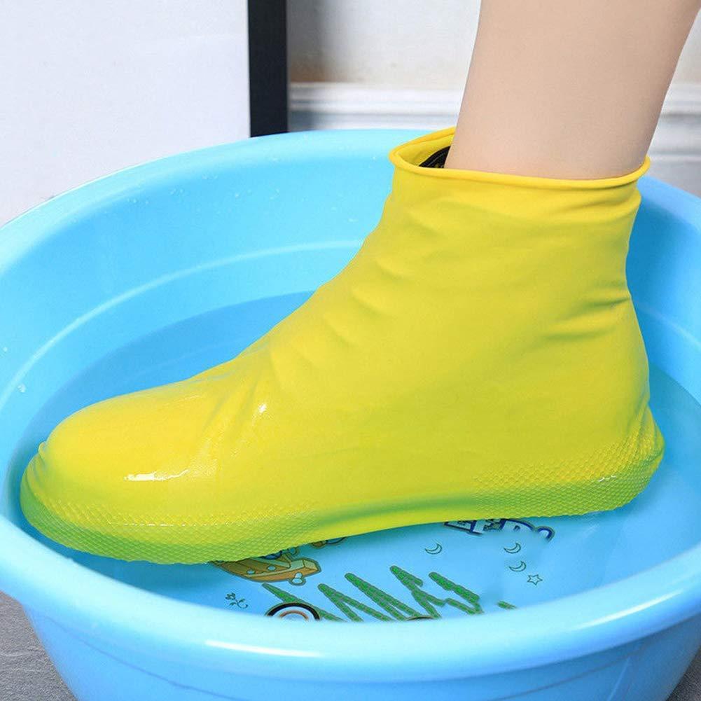 PVC Waterproof Shoe Covers Reusable Anti-slip Rain Boot Motorcycle Overshoe F FJ