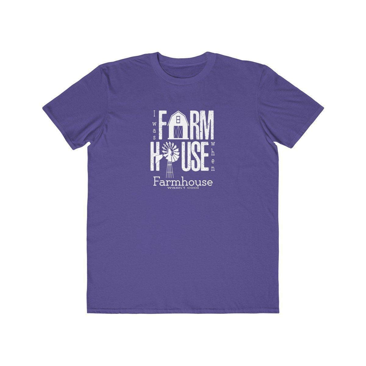 TXRepublic Farmhouse Mens Lightweight Fashion Tee Purple