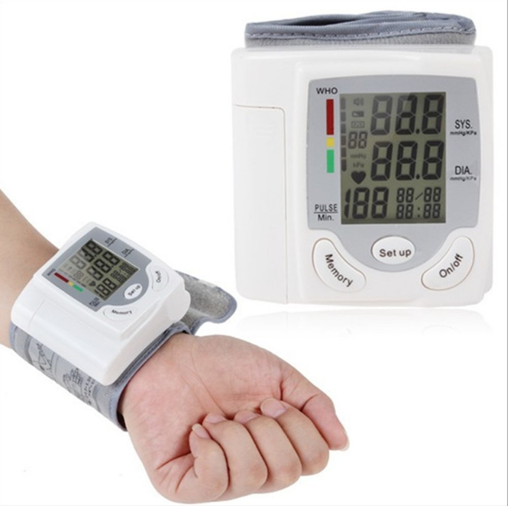 Blood Pressure Monitor,Fully Automatic Wrist Blood Pressure Cuff Machine with 90 Memory Capacity,Heart Rate & Irregular Heartbeat Detector, Date and Time- Batteries Included Best for Travel Home 101S
