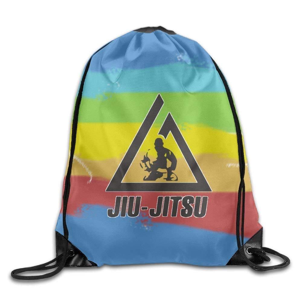 Jiu Jitsu Logo Drawstring Sport Bag, Large Lightweight Sackpack Backpack For Men And Women