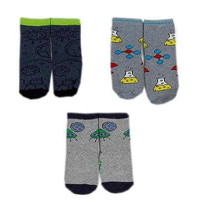 Baby Calcetines ABS Stripes antideslizante calcetines con suela de silicona Explorer de 3 unidades Talla M