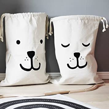 Home Décor Canvas Storage Bag Basket Organizers For Kids Toys, Baby  Clothing, Children Books