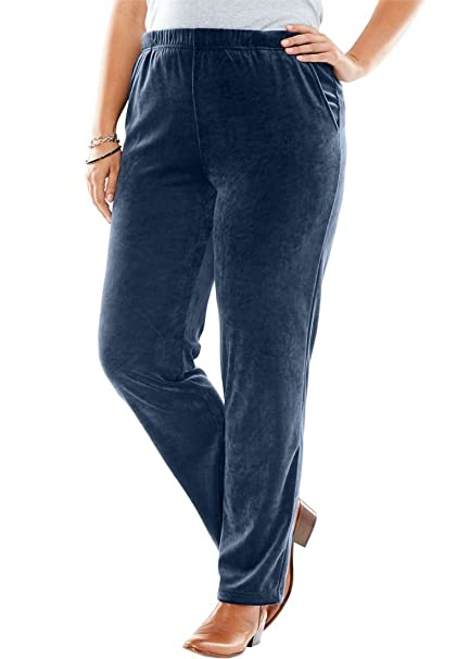 Amazon Womens Plus Size Tall Pants With Straight Leg In Soft