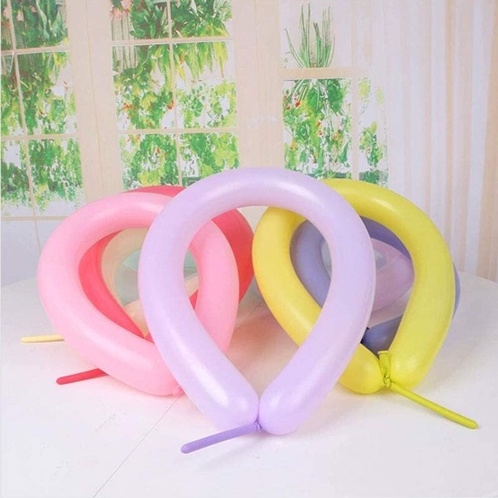 Long Balloons for Balloon Animals,Assorted Color Twisting Balloons Thickening Macaron Pastel 260Q Magic Balloons for Animal Shape Wedding,Birthdays,Xmas Presents Decoration Party Supplies 100PCS