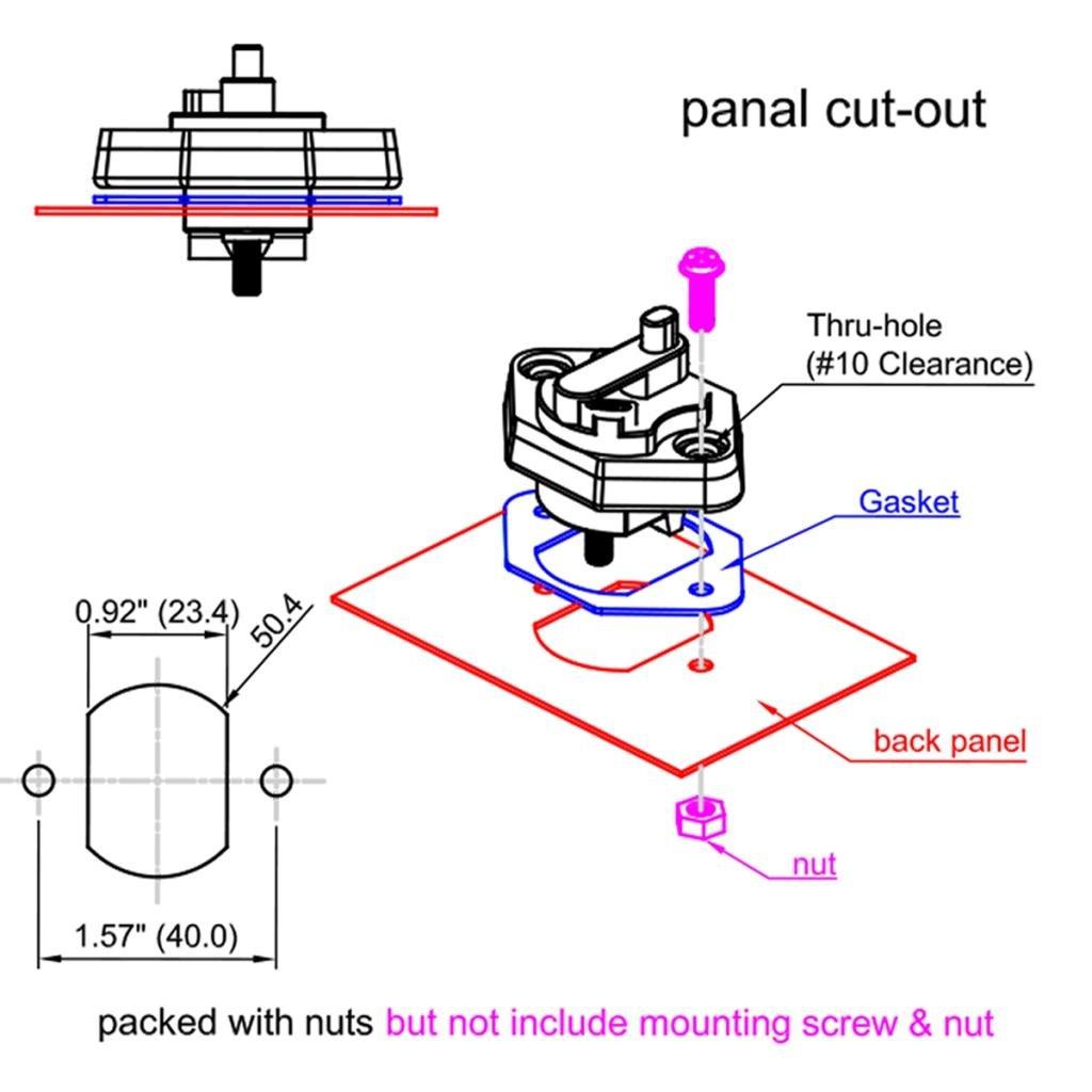 Homyl 2X Circuit Breaker 30A with Manual Reset Home Solar System Fuse Holder for Car 12V 24V DC Reset Fuse Inverter Replace Fuses
