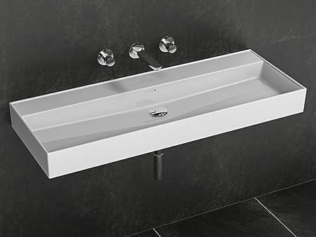 Aqua Bagno 120 cm Ceramic Wash Basin without Tap Hole Rectangular ...