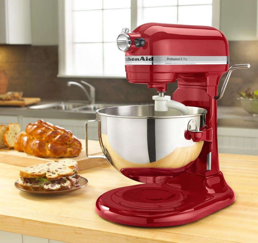 Amazon Com Kitchenaid Kv25g0xer Red Artisan 5 Quart 450 Watt Stand Mixer Electric Stand Mixers Kitchen Dining