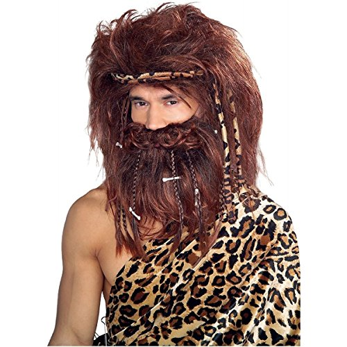 The Costumes Cave Of Queen (Bushy Caveman Beard and Wig Costume)