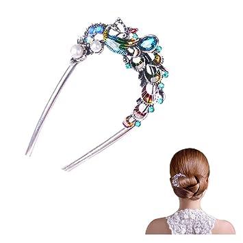 Frauen Legierung Perle Haar Stäbchen Haar Stick Haarnadel Chignon Pin Geschenk