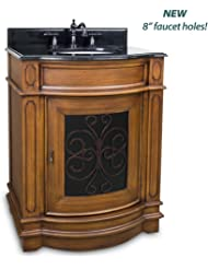 """29"""" Abbott Single Sink Vanity - Toffee with Black by Hardware Resources"""
