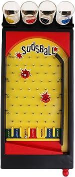 joyMerit Juego De Beber De Sudsball Juego De Máquina De Pinball con Vasos De Chupito Artículos De Fiesta Juego De Mesa para Adultos Juego De Beber: Amazon.es: Juguetes y juegos