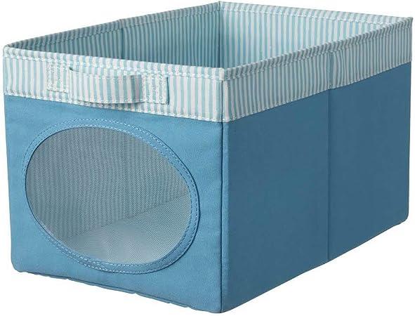 IKEA ASIA NOJSAM - Caja (25 x 37 x 22 cm), Color Azul: Amazon.es ...