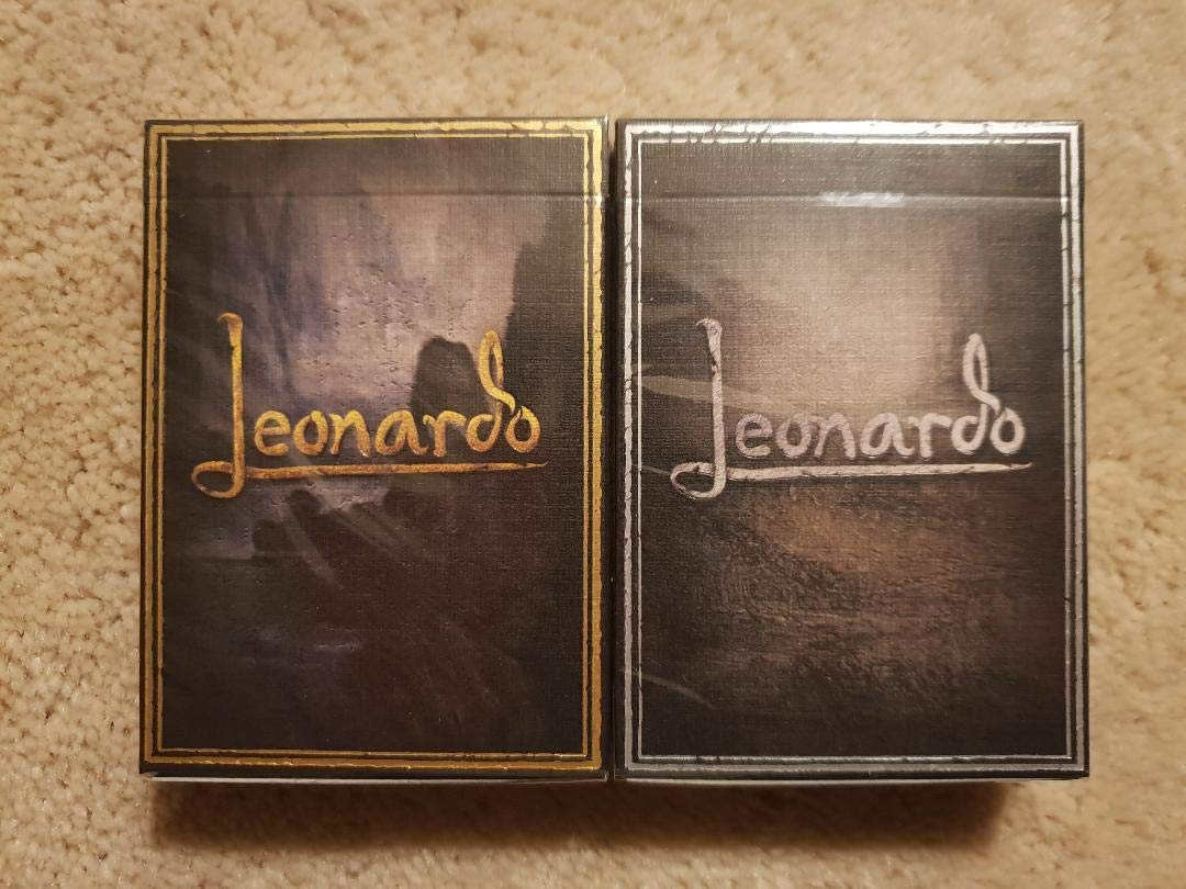 USPCC Art Playing Cards Leonardo MMXVIII High End Rare Limited Edition Gold & Silver Collectors 2 Deck Set United States Playing Card Company
