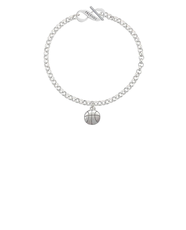 Silvertone Large Basketball Friends Infinity Toggle Chain Bracelet 8