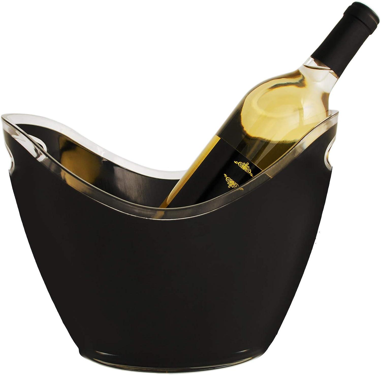 True Swoop Ice Bucket for Parties Bottle Tubs & Buckets, 1, Black