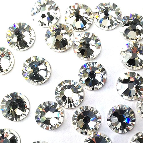 CRYSTAL (001) clear Swarovski 2058 Xilion Rose 6ss 2mm Tiny flatback No-Hotfix rhinestones ss6 nail art 144 pcs (1 (2 Mm Swarovski Crystals)