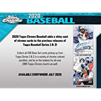 $39 » 2020 Topps Chrome Baseball Blaster Box (7 Packs/4 Cards 1 Pack of Sepia Refractors)
