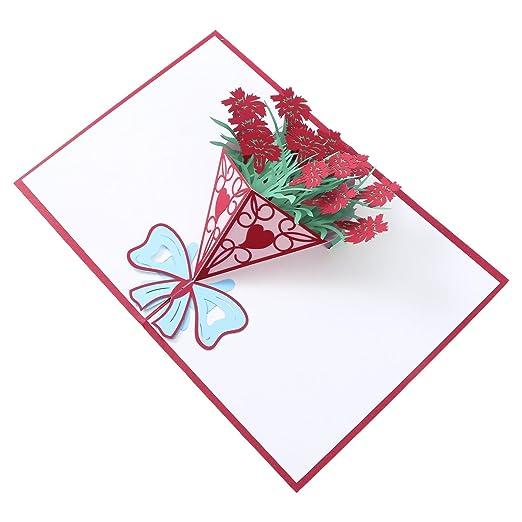 SUPVOX Tarjeta 3D Tarjeta Pop Up Tarjetas de felicitación ...