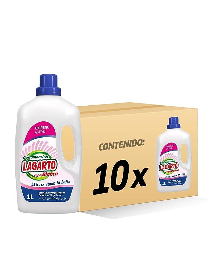 Lagarto Quitamanchas Liquido Oxi White - Paquete de 10 x 1000 ml - Total: 10000ml: Amazon.es: Salud y cuidado personal