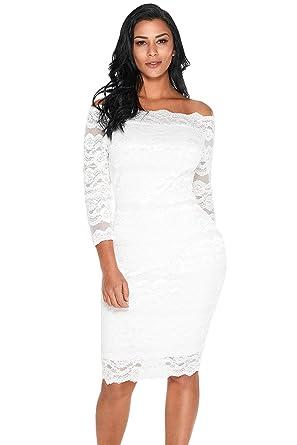1c3135cbb4641 Boldgal Girl s Western Wear Mini Scalloped Off Shoulder Dress Small White