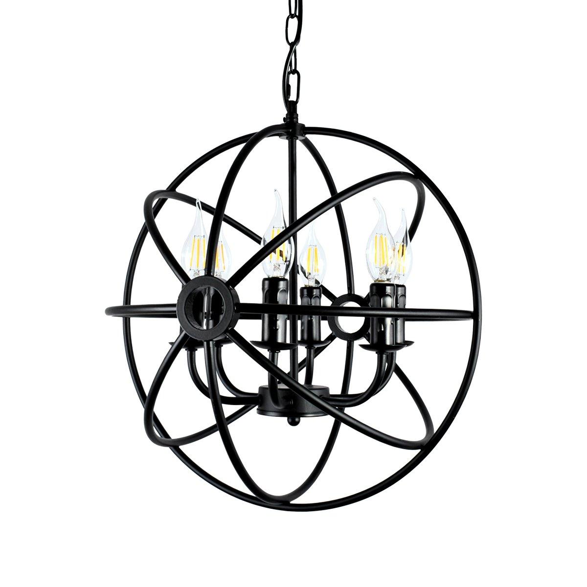 Lingkai Hängeleuchte Käfig Industrielampe E12 E14 Pendelleuchte 6 Lampenfassungen Esszimmer Esszimmer Esszimmer Lampe Wohnzimmer Kronleuchter aff9b2