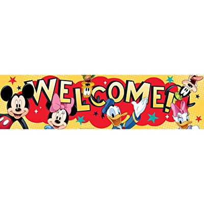 Eureka Mickey Classroom Banner, Welcome, 12 x 45: Toys & Games