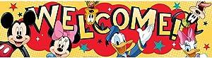 Eureka Mickey Classroom Banner, Welcome, 12 x 45