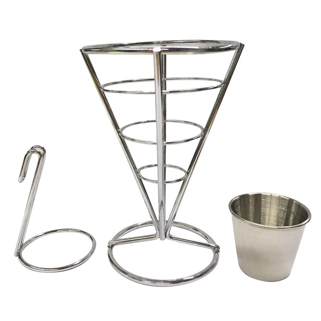 ♚Rendodon♚ Kitchen Tools, Food Storage, Round Stainless Steel Frying Basket, Electroplate Stainless Steel Mini Frying Net Round Block Mesh Kitchen Tools (A)