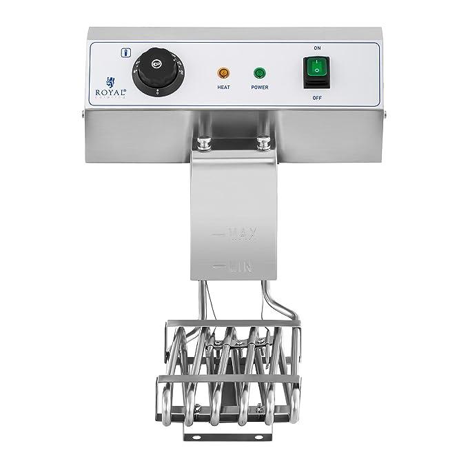 Royal Catering Freidora Electrica Profesional Doble RCEF 16DH-1 (2 x 16 L, 2 x 3 600 Watt, Termostato, 2 Grifos de vaciado, Acero inoxidable): Amazon.es: ...